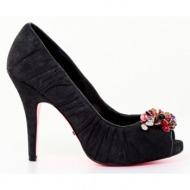 γυναικεία παπούτσια betsey johnson-δέρμα καστόρι μεταλιζέ