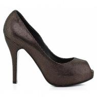 γυναικεία παπούτσια feng shoe-σταμπωτό δέρμα καστόρι