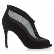 γυναικεία παπούτσια l.k. bennett-δέρμα καστόρι και δίχτυ