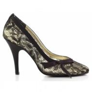 γυναικεία παπούτσια beverly feldman-ύφασμα δαντέλα