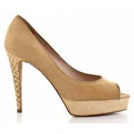γυναικεία παπούτσια kαλογήρου private label-δέρμα καστόρι και δέρμα πύθωνα