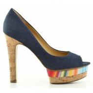 γυναικεία παπούτσια nine west-ύφασμα jean