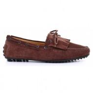 ανδρικά παπούτσια haralas-δέρμα καστόρι