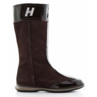 παιδικά παπούτσια hogan-δέρμα καστόρι και δέρμα λουστρίνι