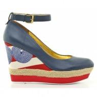 γυναικεία παπούτσια nine west-δέρμα τελατίνι γκοφρέ